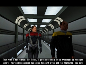 Unfortunately you're stuck with having Tuvok for a boss.