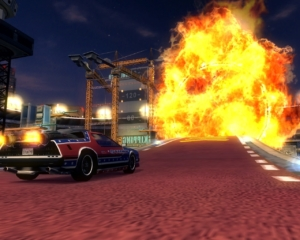 You get a choice of special vehicles for the ragdoll events. This particular event, as you can see, involves fire.