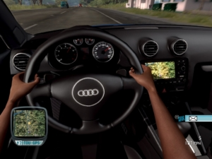 The dashboard view is perfectly playable. And that GPS actually works in real-time.