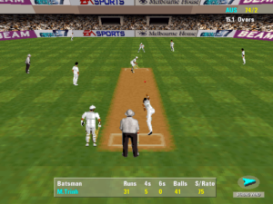 Going around the wicket to the left-hander.
