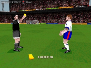 That's a yellow card for Onderton.