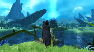 A few sections of the game consist entirely of walking along a path and talking to someone.