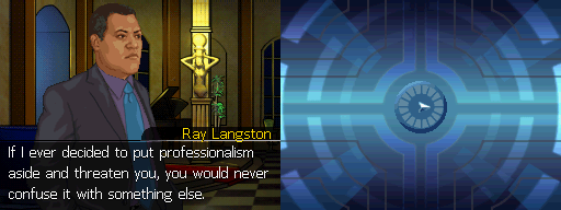 I sort of love the fact that Ray's a gentleman but also a bit of a hard bastard.